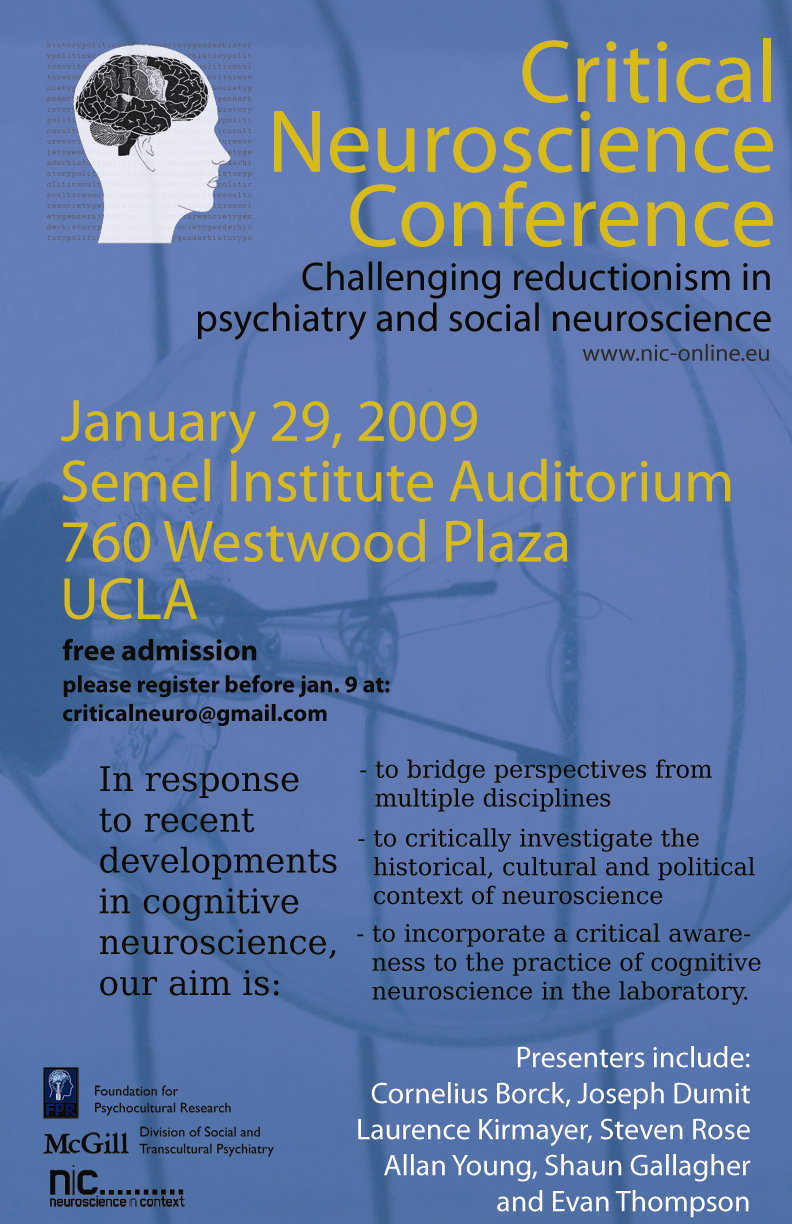 Critical Neuroscience Conference at UCLA | Neuroanthropology