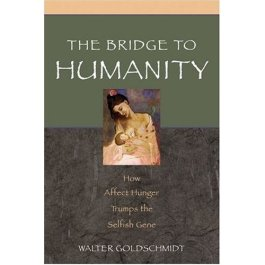 Cover to Goldschmidts book, The Bridge to Humanity, Oxford Press