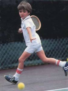 A young Andre Agassi