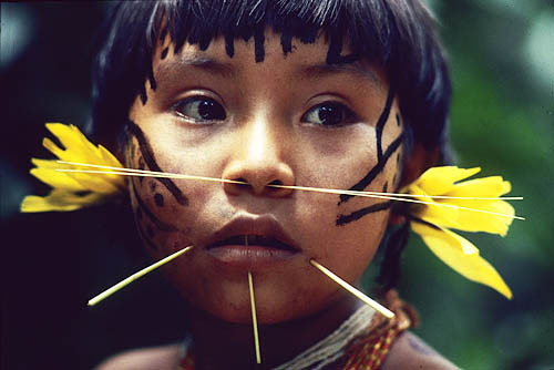 Yanomami Girl by Victor Englebert