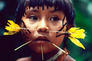 Yanomami Girl by Victor Englebert