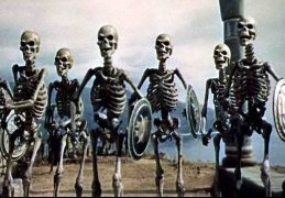 The famous photo of Malinowski learning the enforcement mechanism for the kula ring as reanimated skeletons attack his camp.